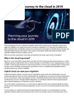 Planning Your Journey to the Cloud in 2019