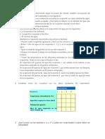 Ordenar la siguiente información según los pasos del método científico.doc