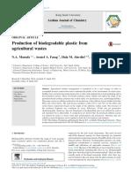 Sản xuất nhựa phân hủy sinh học từ chất thải nông nghiệp