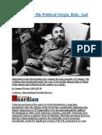 Fidel Castro  His Political Origin, Rule, And Legacy.docx