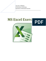 Ms Excel Exercises