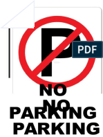 signboard No Parking.docx