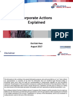 Corporate Actions Explained Aug