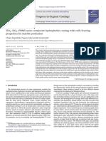 Nanorecubrimiento compuesto hidrofóbico con propiedades autolimpiantes para la protección del marmol