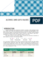 Alcohols and Alkyl Halides