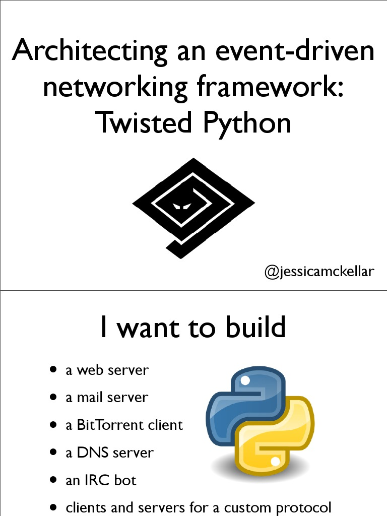 twistted python | Network Socket | Transmission Control Protocol