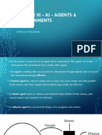 Module III - AI - Agents & Environments