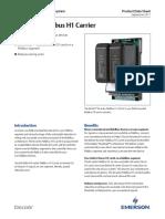 Product Data Sheet m Series Fieldbus h1 Carrier Deltav en 56250