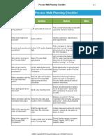 Process Walk Planning Checklist v3.1 GoLeanSixSigma.com