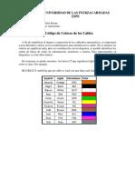 Codigo de Colores de Cable