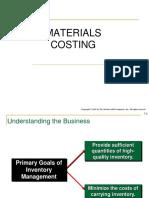 Materials Costing Inc