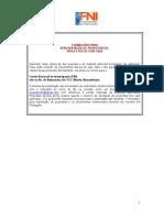 Formulário Projectos Especiais FNI