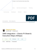 DMS Integration _ Classic PI-Sheet & Execution Steps (XSteps) _ SAP Blogs