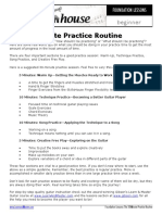 Practice routine
