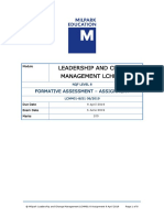 z Assignment Lchm01-8 s1 05 06 2019 Mba Dl