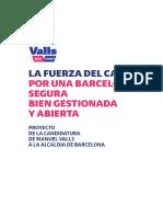 Programa electoral de Manuel Valls (Cs) para la alcaldía de Barcelona