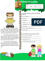 Reading Comprehension 2 Tests