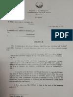 Comelec Order Case No.13 022