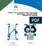 Apco Full Flow Foot Valves Fff Fff Full Flow Foot Valves 1400