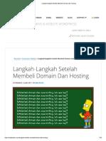 Langkah-langkah Setelah Membeli Domain Dan Hosting