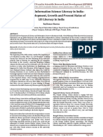 Library and Information Science Literacy in India History- Development, Growth and Present Status of LIS Literacy in India