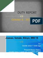 DUTY REPORT