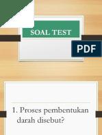 Soal Test Hematologi
