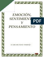 Domingo Herbella - Emoción, Sentimiento y Pensamiento