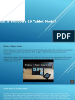 What is Windows 10 Tablet Mode.pptx