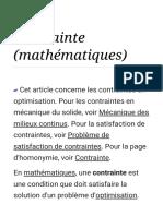 Contrainte (mathématiques) — Wikipédia