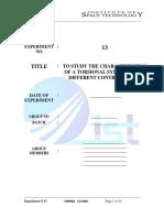 Lab Report 13-Torsional Platform