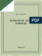 Verlaine Paul - Romances Sans Paroles