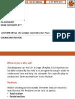 Set Design Terminology
