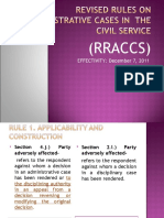Revised Rules on Administrative Cases in the Civil