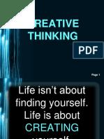 TOPIC 3 Creative Thinking