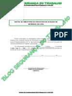 Modelo - Edital de Abertura do Processo de Eleição de Membros da CIPA - Blog Segurança do Trabalho.pdf