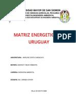 Matriz Energetica de Uruguay