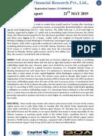 Capitalstars MCX Report 21 May 2019