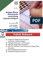 Week 11 Budget Biaya Pemasaran