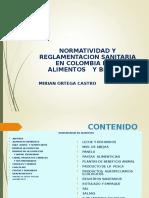 NORMATIVIDAD Y REGLAMENTACION SANITARIA EN ALIMENTOS