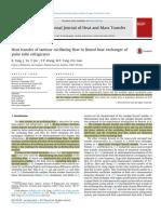 2014 K Tang Heat Transfer of Laminar Oscillating Flow in Finned Heat Exchanger of Pulse Tube Refrigerator