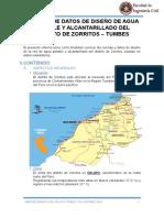 Informe de Datos de Diseño Del Distrito de Zorritos