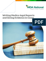 Writing Medico Legal Reports Giving Evidence in Court