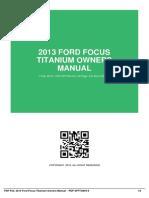 IDa92686049-2013 ford focus titanium owners manual