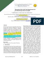 Resumen normativa de soporte dinámico de red eléctrica