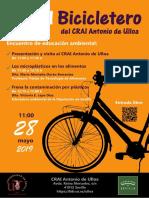 En el Bicicletero del CRAI. Encuentro de Educación Ambiental
