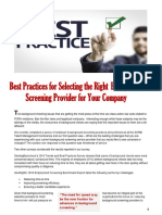 Top Ten Tips for Selecting Background Screening Provider