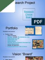 research portfolio vision project