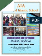 AIA Student Handbook 2018-2019