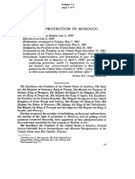 Right of Protection in Morocco - In Personum Jurisdiction